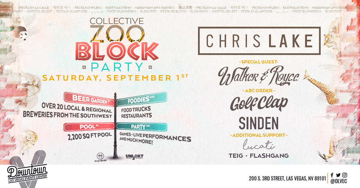 Collective Zoo Block Party 2018 Lineup